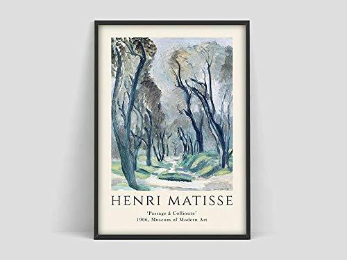 Henri Matisse Poster, Matisse Kunstdruck, Matisse die Ausschnitte, Matisse Poster, Matisse Kunstplakat, Henri Matisse Ausstellungsfamilie Rahmenlose dekorative Malerei Z19 40x60cm