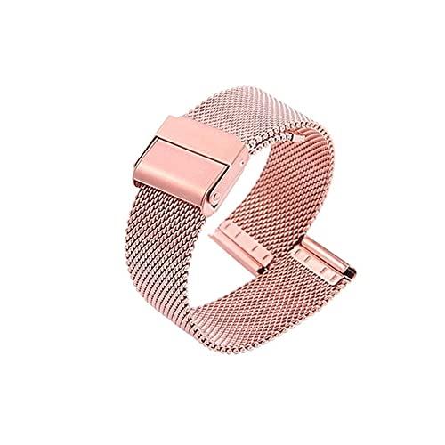 Correa de reloj, 18 mm 20 mm 22 mm 24 mm pulsera deportiva de metal mujer hombre pulsera de repuesto correa de banda con pasadores de liberación rápida brazalete caja de música (color: 24 mm, tamaño: