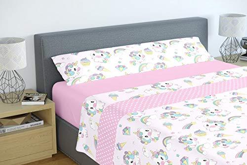 Energy Colors Textil - Hogar - Atlanta - Juego Sábanas Estampada Infantil Cama 90 Verano Microfibra (Hadas)