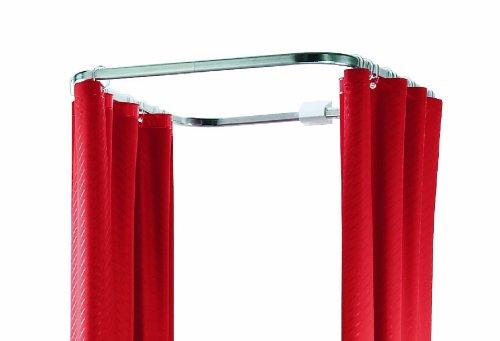 Spirella, Asta per Tenda Doccia Circolare in Alluminio OVA Cabine 70x80cm Durchmesser 30x17mm Weiß glänzendes Finish