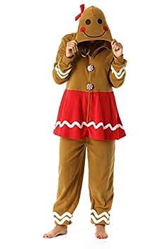 6442-XL FollowMe Adult Onesie / Womens Pajamas X-Large Gingerbread Girl