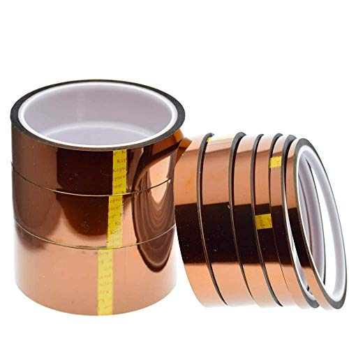 FYYONG Polyimid-Klebeband, 33 m x 5–40 mm, hitzebeständig, Isolierung, Polyimid-Folie, Klebeband, 10 mm (Größe 15 mm)