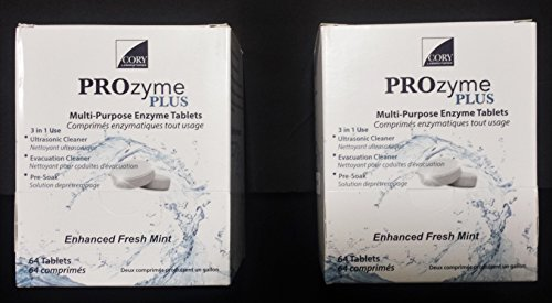 Prozyme Plus Ultrasonic Cleaning Solution Tablet 128 Tablets (2 Boxes of 64)