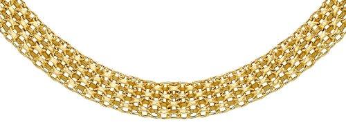 Carissima Gold 9 Karat Gelbgold Bismarckkette 46cm/18