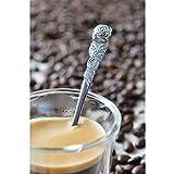 GRÄWE Espressolöffel 6 Stück, Espresso Löffel aus Edelstahl, spülmaschinengeeignet - Rosendekor - 4