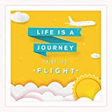 Inspirational Desk Decor | Ideal Present for Aviation & Aircraft Pilot | 7X7' Bedroom Signs Wall Decor Above Bed | Aviator & Airplane Themed Presents | Air Travel Enthusiasts Gift for Men & Women