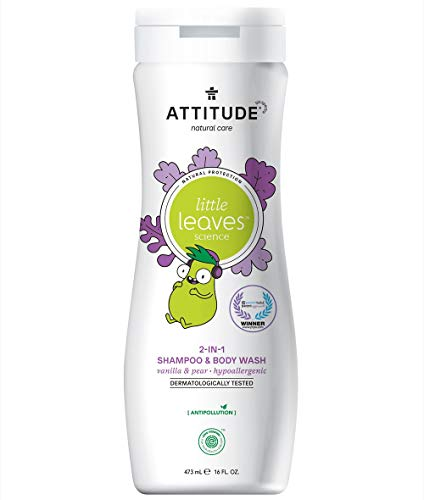 ATTITUDE Little Leaves 2in1 Shampoo und Duschgel – Vanille & Birne (1 x 473ml)