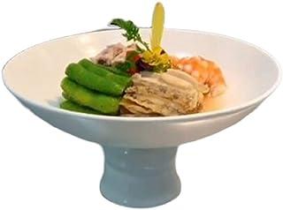 CZFSKCZpz Vaisselle Et Arts De La Table Service, Hotel Restaurant Pure Blanc Ceramique Bol à haut pied Plat Creative Plaque