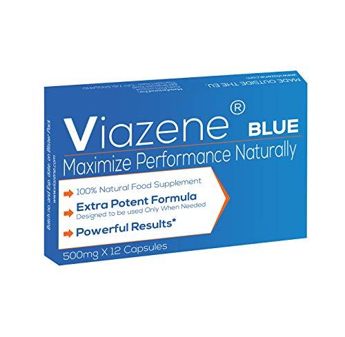 Viazene Blue - Compléments alimentaires extrêmement puissants pour hommes modernes de Viazene - Effet Immédiat, Durée Maximale, 100% Naturel. No1 dans l'UE - 12 Capsules