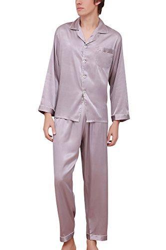 Dolamen Pijamas para Hombre Satén Largo, Hombre Parejas
