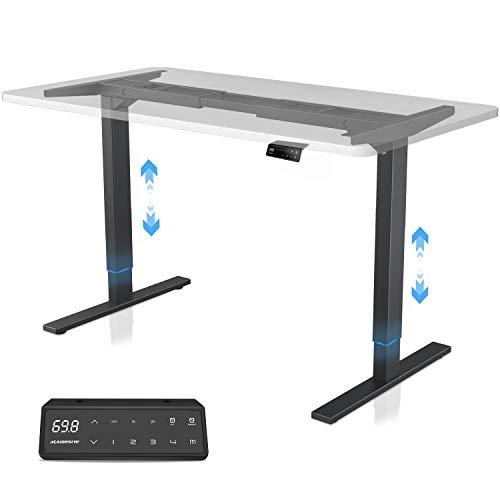 MAIDeSITe höhenverstellbarer elektrisher Schreibtisch mit 2 starken Motoren, höhenverstellbares tischgestell 2 teiligen Beinen sowie auch 4 Memory-Steuerung und Kollisionschutz Funktion(Schwarz)