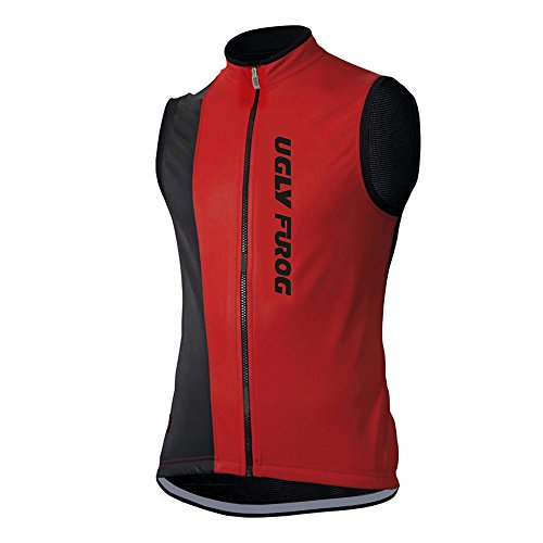 Uglyfrog Ciclismo Winter with Fleece Cycling Vest de Chalecos Bicicleta Hombre Invierno Traje de Ciclismo