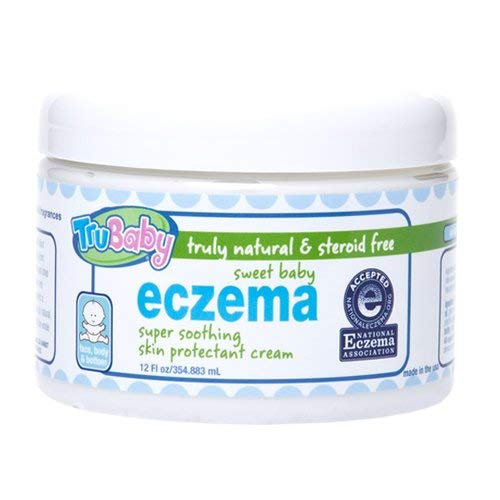TruBaby Soothing Skin (Eczema) Cream, 12 Oz, Unscented Baby Lotion for Sensitive Skin, Extra Gentle, Natural Formula, Moisturizing Eczema Body Lotion for Kids, Pediatrician, Dermatologist Tested