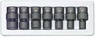 Sunex 3654 3/8-Inch Drive Standard Fractional Universal Impact Socket Set, SAE, 6-Point, Cr-Mo, 3/8-Inch - 3/4-Inch, 7-Piece