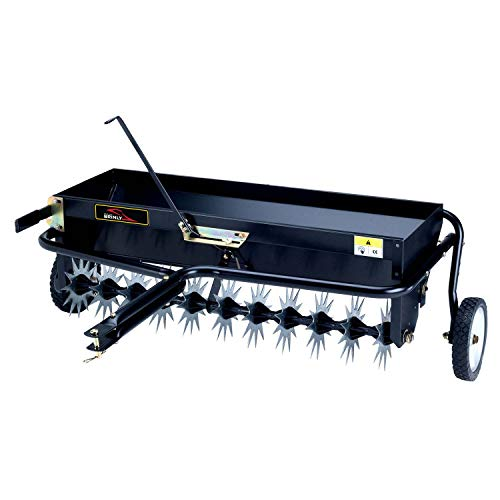 Brinly AS-40BH-A Tow Behind Combination, 40-Inch Aerator Spreader, Black