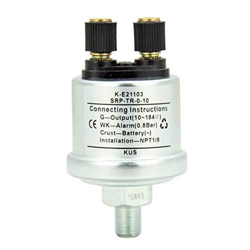 Iinger Sensor de presión de Aceite mecánico con Barco de Barco de Alarma NPT 1/8 0-10 Bar