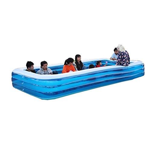 DYYD Piscina for niños y Adultos Interacción Familiar de Verano Fiesta en la Piscina Piscina Inflable Portador Juego del jardín del Agua 428x210x65 Cm