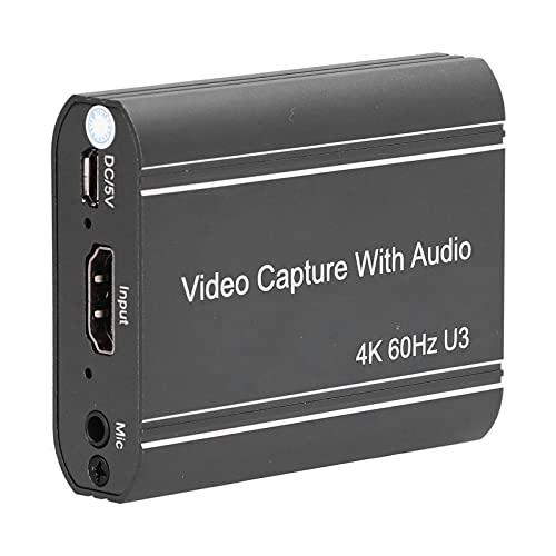 PUSOKEI Tarjeta De Captura De Audio Y Video, Tarjeta De Captura Multimedia 4K 1080P HD, Tarjeta De Captura De Video USB 3.0 Portátil para Windows, Grabación De Adquisición HD Imágenes Médicas