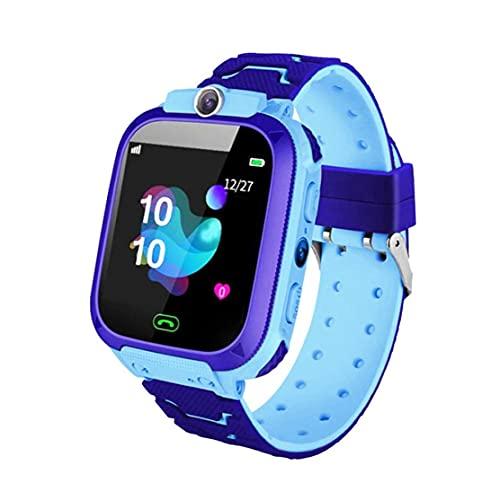 Inteligente Reloj niños Teléfono niños Pulsera Azul SOS Llamada Cámara Impermeable SIM Compatible con iOS Anroid para niños de los niños