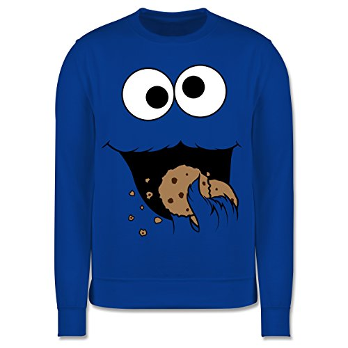 Shirtracer Karneval & Fasching Kinder - Keks-Monster - 140 (9/11 Jahre) - Royalblau - Pullover Monster Kinder - JH030K - Kinder Pullover