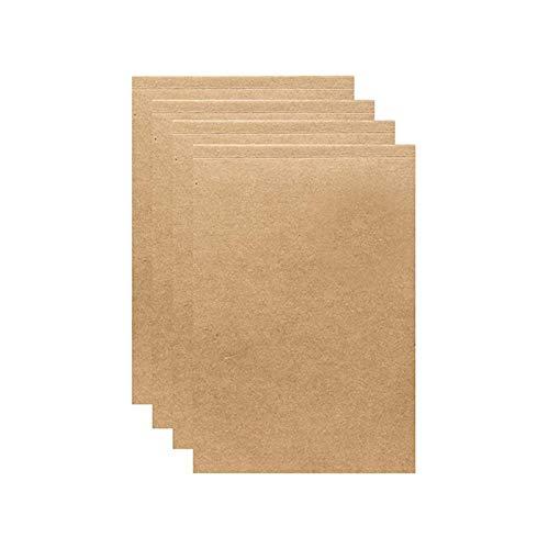 AIDELAI Cuaderno de papel kraft 4 piezas sin forro diario diario de viaje cuaderno de notas en blanco para escribir dibujo (tamaño L: