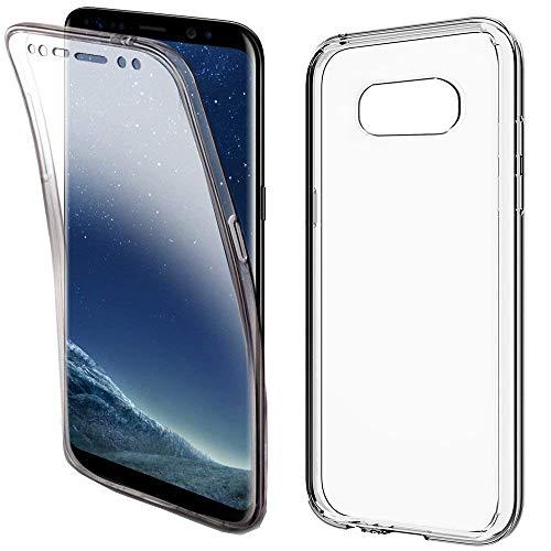 COPHONE - Funda para Samsung Galaxy S8 100%Transparente 360 Grados Protección Completa Delantera Suave de silicona+ Trasera rígida. Funda táctil 360 Grados antigolpes para Galaxy S8