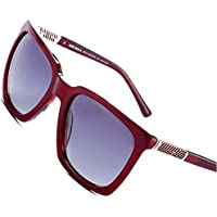 Bruwen Polarized Designer Stylish Vintage Square Womens Sunglasses