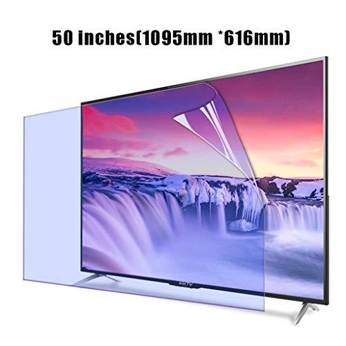 Protector de pantalla de TV de 50 pulgadas en azul claro, Anti Blue Light & Glare Filter Film Protección para los ojos Protector de pantalla ultra claro para pantalla QLED 4K HDTV,50 in(1095*616mm)