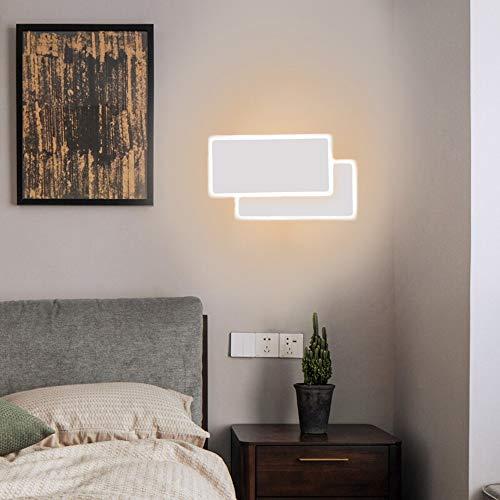 COOSNUG Flurlampe Wand Led Wandleuchte Innen 14W Modern Wandlampen Treppenhaus Quadrat Wandleuchten 3000K Warmweiße Nachtlicht Schlafzimmer Wohnzimmer Flur Kunst Dekoration