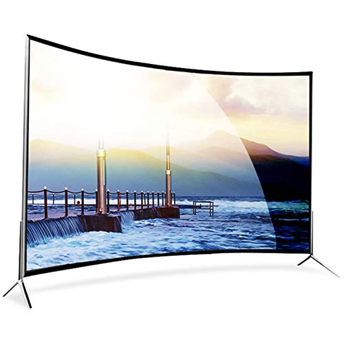 Televisor 4K curvo ultra claro de 55 pulgadas, Pantalla LCD a prueba de explosiones, red inteligente WiFi LCD TV, Smart TV Android con función de proyección, Compatible con HDMI, USB, AV, VGA