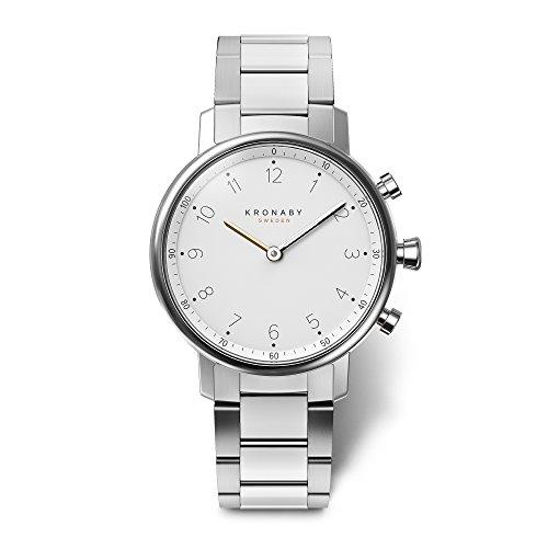 KRONABY Nord Herren Connected Uhren A1000-0710 eine traditionelle Uhr mit Smartwatch Funktionalitäten 38 mm Gehäusedurchmesser Saphirglas 100 M wasserdicht