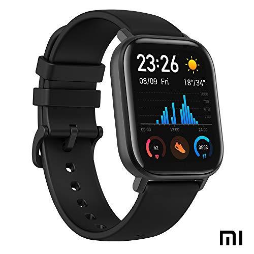 Xiaomi Amazfit GTS Reloj Smartwactch Deportivo | 14 días Batería | GPS+Glonass | Sensor Seguimiento Biológico BioTracker™ PPG | Frecuencia Cardíaca | Natación | Bluetooth 5.0 (iOS & Android) Negro