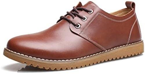 LEDLFIE Herren Echtleder Schuhe Casual Herrenschuhe Breathable Casual Schuhe