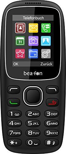 Beafon C65 Handy (4,5 cm (1,77 Zoll) TFT-Bildschirm, Dual-SIM) schwarz