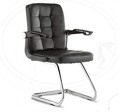 Kantoorstoel, Sofa-Style schommelstoel, geschikt voor het spelen van games, werk, intrekbare armleuningen Europese stijl Large Zwart