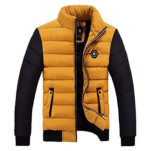 MOMBIY Herren Steppjacke Männer Winter Übergangsjacke mit Stehkragen Warme Kurze Jackets Mit Reißverschluss Winterjacken Daunenjacke...