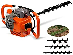 Auger Post Hole Digger, Gas Powered 71cc 2-Stroke Post Hole+Drill Bits 4