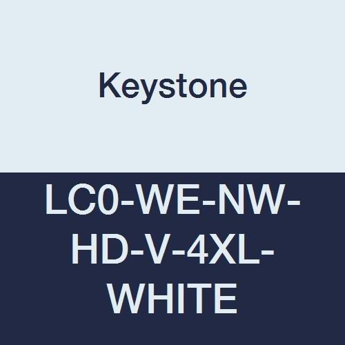 Keystone El Paso Mall LC0-WE-NW-HD-V-4XL-WHITE Heavy Oakland Mall Duty Lab C Polypropylene