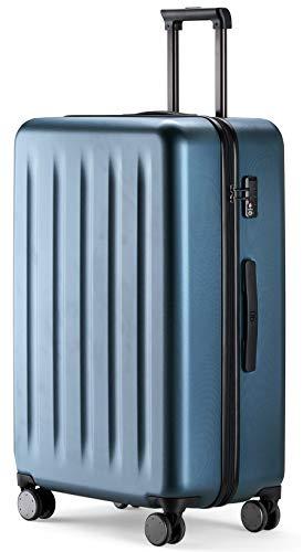 90FUN mittelgroßer Koffer, Leichter Hartschalen Trolley mit TSA-Zahlenschloss, 67,5 x 44 x 25 cm, Größe M, Blau