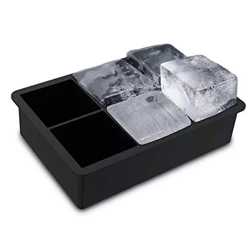 Forma De Gelo Silicone Cubo Grande 6 Cubos Drink Whisky Top