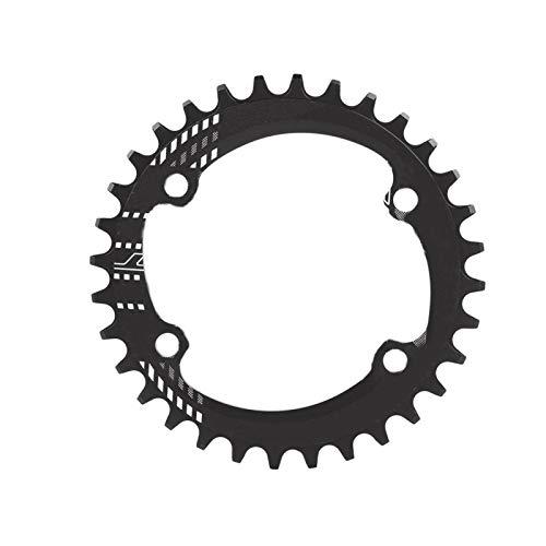 Cocosity Anillo de Cadena, Plato de Bicicleta, Anillo de Cadena Simple para Bicicletas de Carretera Bicicleta Exterior(Black, 32T)