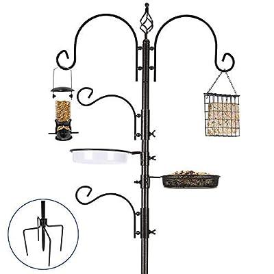 ERYTLLY Bird Feeding Station Kit Bird Feeder Pole Wild Bird Feeder Hanging Kit