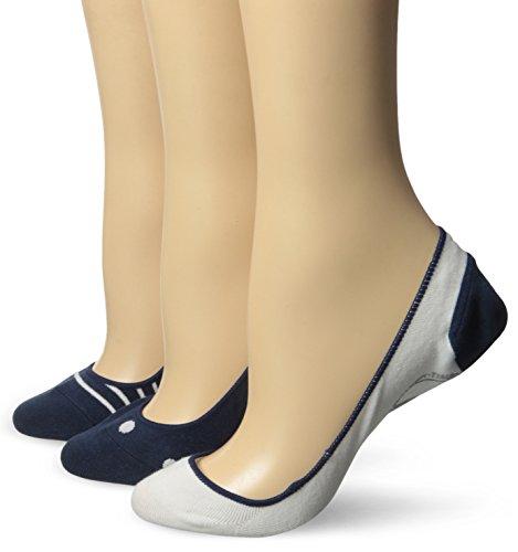Timberland Damen Bootsschuh Low Cut Invisible Liner Socken (3er Pack) - Blau - Einheitsgröße