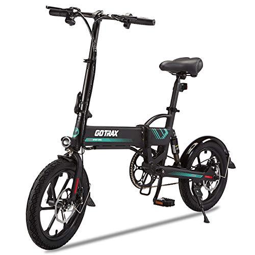 Gotrax Folding Electric Bike 16' - 15.5MPH & 27.9 Mile Range - 350W Motor Lightweight Commuter E-Bike (Black)