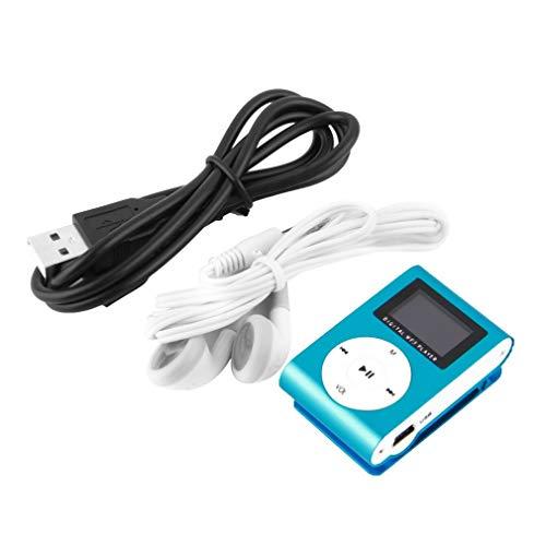 Lightleopard Metal Hi-Fi capacità di 16GB Lettore MP3 Musicale Portatile Lettore MP4 Ad Alta Risoluzione con 1,8 Pollici Schermo MP3 Lettore Multifunzione, Blu