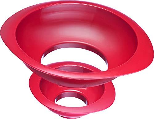 Westmark 2 Entonnoirs à Confiture/ à Conservation, Set d'entonnoirs, Diamètre du col de remplissage : 4,2/7,5 cm, Plastique, Rouge, 11552270