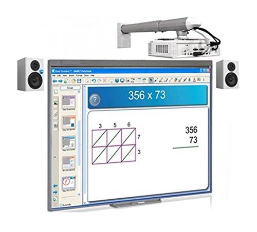 Pizarra Electrónica Interactiva Promethean ABT78D Touch + Proyector OPTOMA XGA X305ST (Corta Distancia) HDMI/VGA + Altavoces/Autoamplificables/Potencia 40W /Anclaje a Pared.+ Instalación Completa