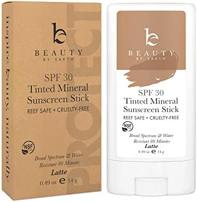 Mineral Tinted Sunscreen Stick Zinc Oxide Sunscreen Lotion Stick Made with Organic Ingredients product image