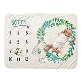 Decdeal Baby Monatliche Decke Fotohintergrund-Decke aus Flanell für Babyfotos mit Meilenstein-Druckmuster 70x100cm