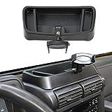 Hoolcar Interior Phone Holder Radio Holder Multi-Functional Walkie Talkie Cell Phone Mount Bracket for 1997-2006 Jeep Wrangler TJ, Black
